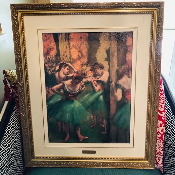 "ReAl Print from Edgar Degas ""Dancer in green"""